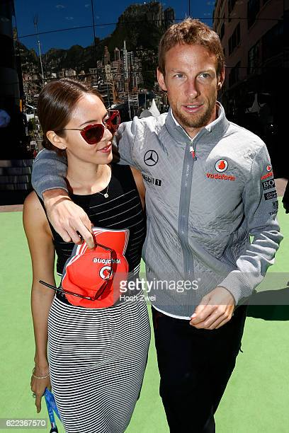 FIA Formula One World Championship 2013 Grand Prix of Monaco #5 Jenson Button with his girlfriend Jessica Michibata