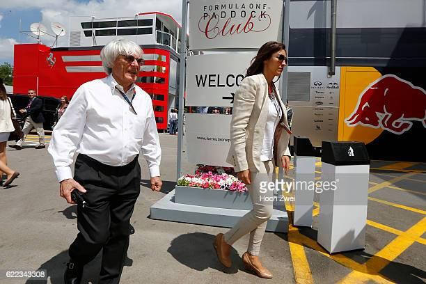 Formula One World Championship 2013, Grand Prix of Spain, Bernie Ecclestone with his girlfriend Fabiana Flosi