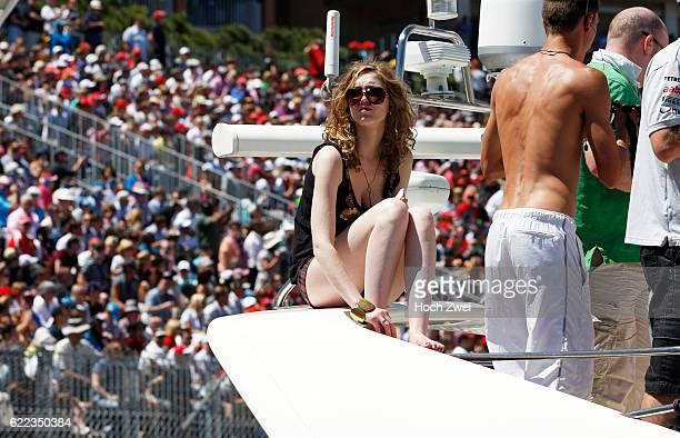 FIA Formula One World Championship 2013 Grand Prix of Monaco Fans on yacht