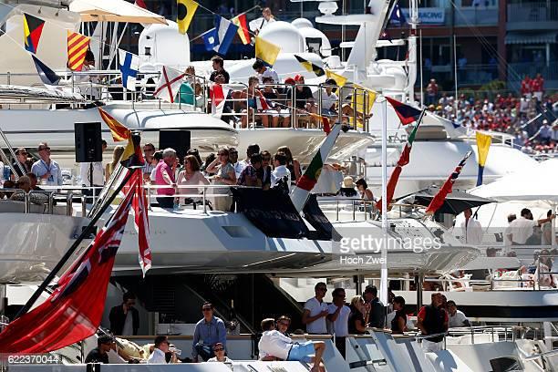 FIA Formula One World Championship 2013 Grand Prix of Monaco Fans on yachts