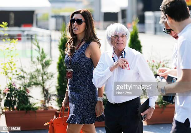 FIA Formula One World Championship 2013 Grand Prix of Hungary Bernie Ecclestone and his wife Fabiana Flosi