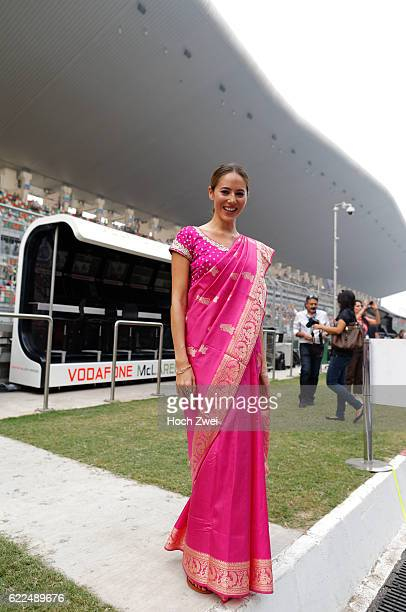 FIA Formula One World Championship 2013 Grand Prix of India Jessica Michibata girlfriend of Jenson Button