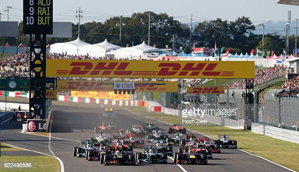 FIA Formula One World Championship 2013 Grand Prix of Japan start mass Masse Menge viele many