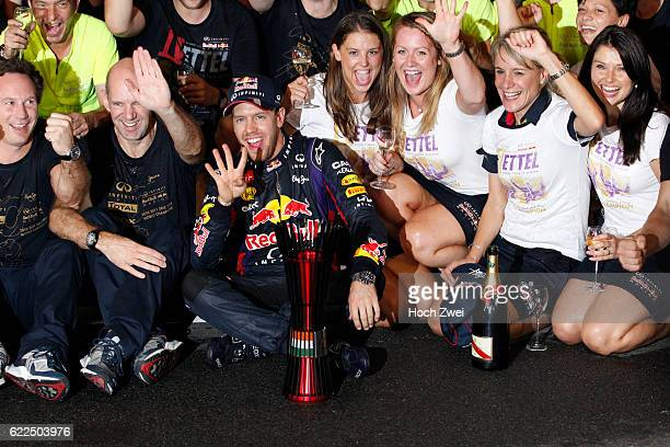 FIA Formula One World Championship 2013 Grand Prix of India Christian Horner Adrian Newey #1 Sebastian Vettel Britta Roeske