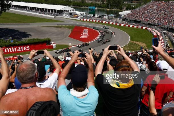 FIA Formula One World Championship 2014 Grand Prix of Canada #11 Sergio Perez #27 Nico Hulkenberg
