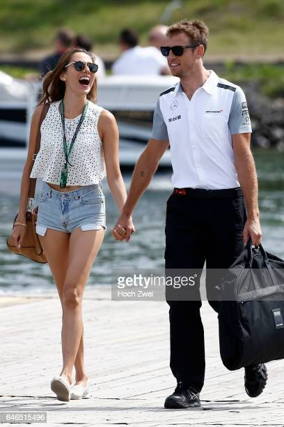 FIA Formula One World Championship 2014 Grand Prix of Canada #22 Jenson Button and his girlfriend Jessica Michibata