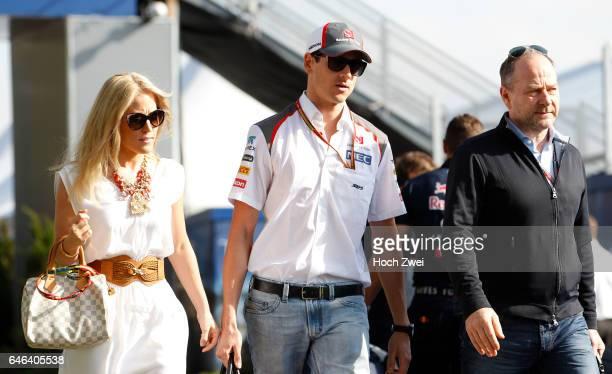 FIA Formula One World Championship 2014 Grand Prix of Australia #99 Adrian Sutil and his girlfriend Jennifer Becks
