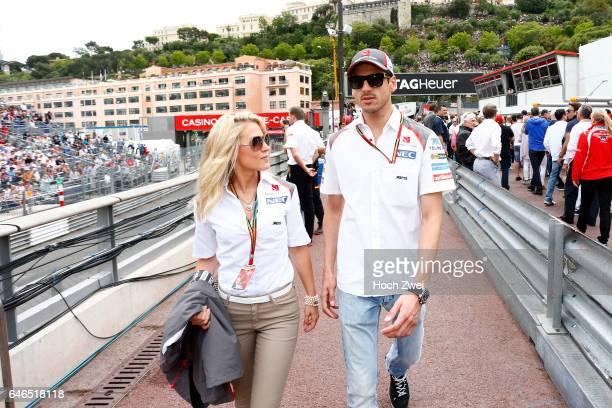 FIA Formula One World Championship 2014 Grand Prix of Monaco #99 Adrian Sutil and his girlfriend Jennifer Becks