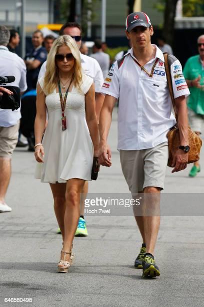 FIA Formula One World Championship 2014 Grand Prix of Singapore #99 Adrian Sutil and his girlfriend Jennifer Becks