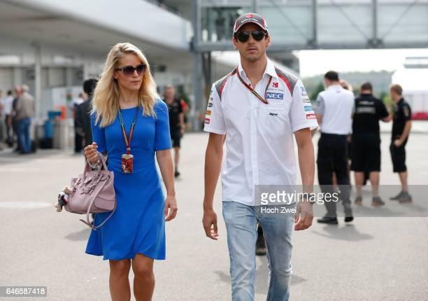 FIA Formula One World Championship 2014 Grand Prix of Japan #99 Adrian Sutil and his girlfriend Jennifer Becks