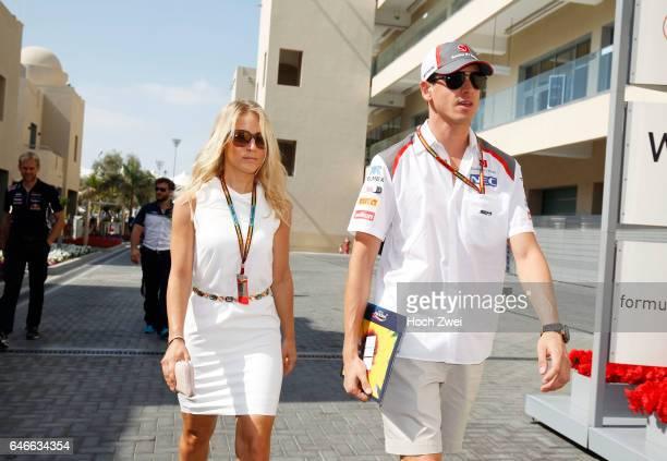 FIA Formula One World Championship 2014 Grand Prix of Abu Dhabi #99 Adrian Sutil and his girlfriend Jennifer Becks