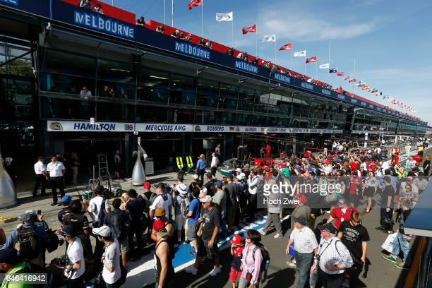 FIA Formula One World Championship 2014 Grand Prix of Australia Pit lane