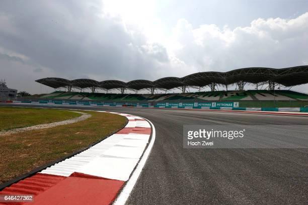 FIA Formula One World Championship 2014 Grand Prix of Malaysia Sepang International Circuit track Rennstrecke tyres marks skidmarks Fahrbahn...