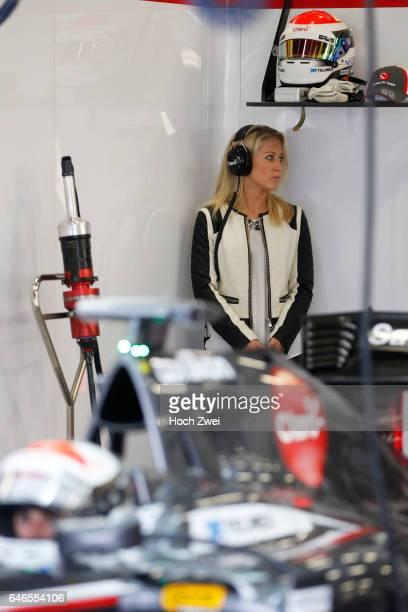 FIA Formula One World Championship 2014 Grand Prix of Great Britain #99 Adrian Sutil and his girlfriend Jennifer Becks