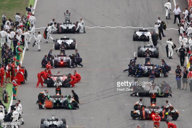 FIA Formula One World Championship 2014 Grand Prix of Germany start mass Masse Menge viele many starting grid