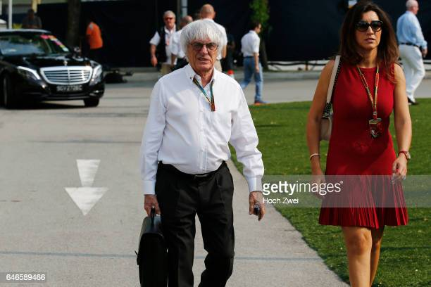 Formula One World Championship 2014, Grand Prix of Singapore, Bernie Ecclestone and his wife Fabiana Flosi