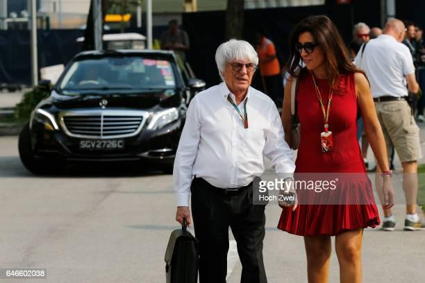 Formula One World Championship 2014, Grand Prix of Singapore, Bernie Ecclestone and his wife Fabiana Flosi