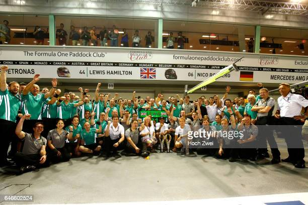FIA Formula One World Championship 2014 Grand Prix of Singapore team celebrates 1st place of Lewis Hamilton