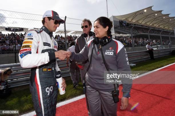 FIA Formula One World Championship 2014 Grand Prix of United States #99 Adrian Sutil Monisha Kaltenborn