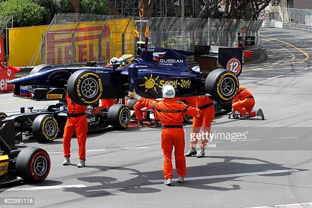 GP2 Series 2013 Grand Prix of Monaco crash between Marcus Ericsson and Tom Dillmann