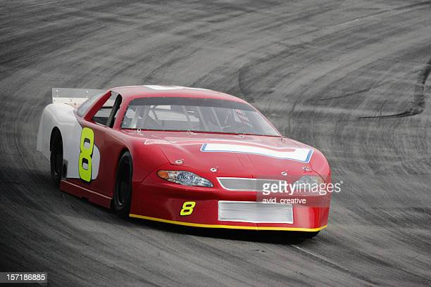 motorsports-red race car - nascar stock pictures, royalty-free photos & images