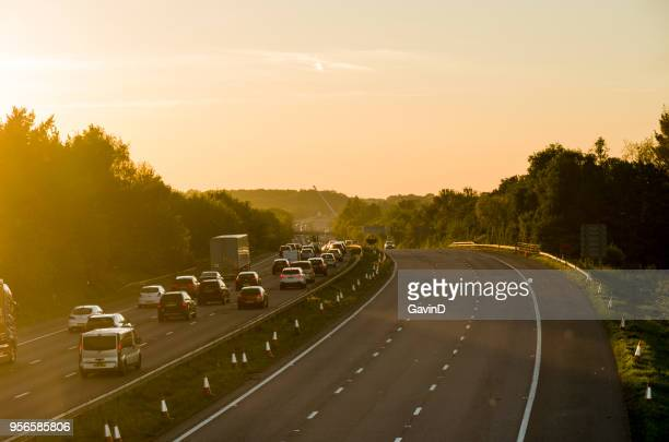 m20 motorway at ashford kent england - ashford kent stock photos and pictures