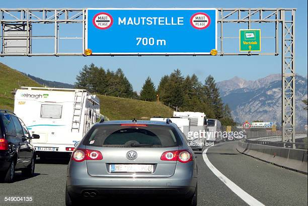 Motorway at the Brenner Pass in Austria.