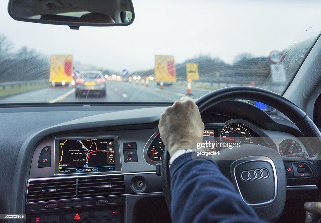 UK Motorway Driving : Stock Photo