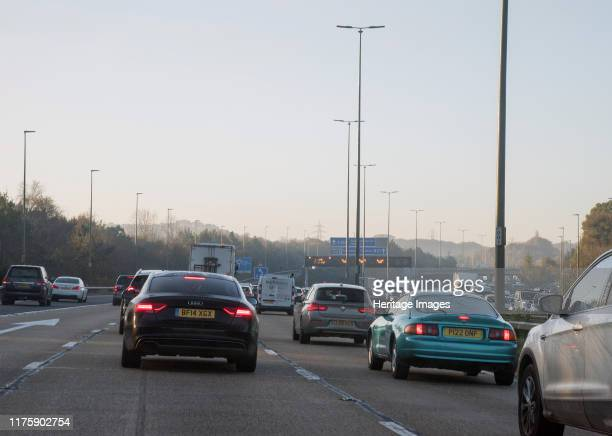 M27 motorway during morning rushhour 2017