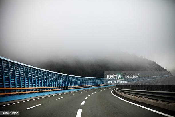 Motorway in fog