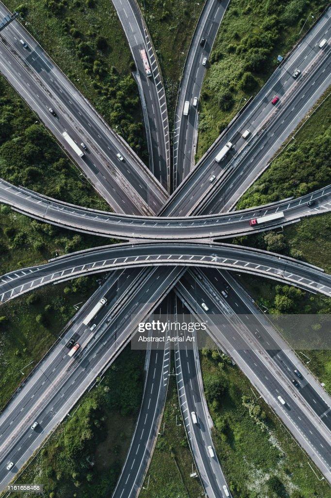 Motorway intersection, Bristol, United Kingdom : Stock Photo