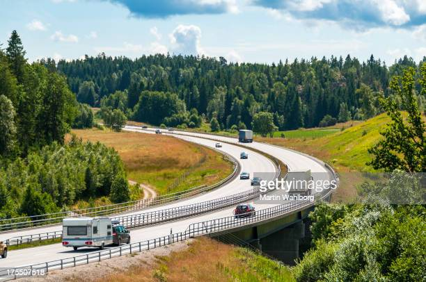 e6 motorway - sweden stock pictures, royalty-free photos & images