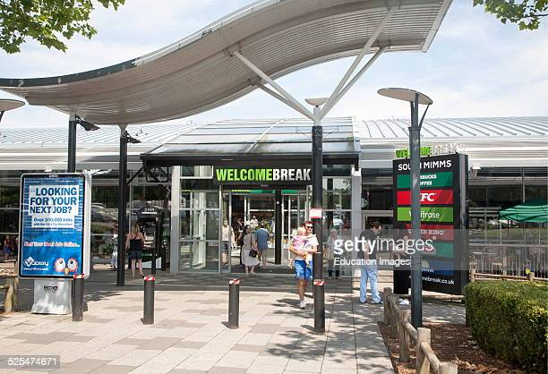M25 motorway services at Welcome Break Service Station South Mimms Potters Bar Hertfordshire England