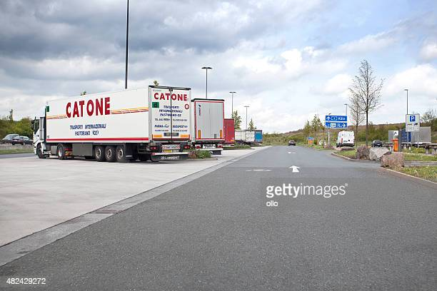 Motorway station and rest area for trucks