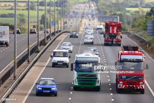Motorway traffic on the M5 Northbound Gloucestershire UK