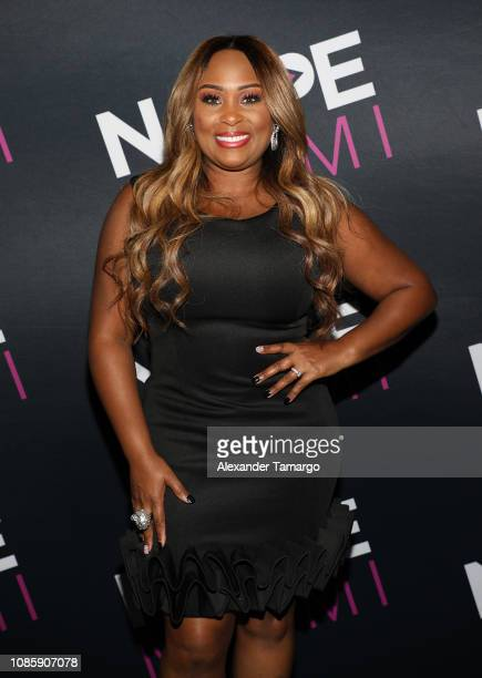 MoTown Gospel recording artist Lexi Allen is seen at NATPE Miami 2019 Tyler Perry Keynote Living the Dream A Career in Content at the Fontainebleau...