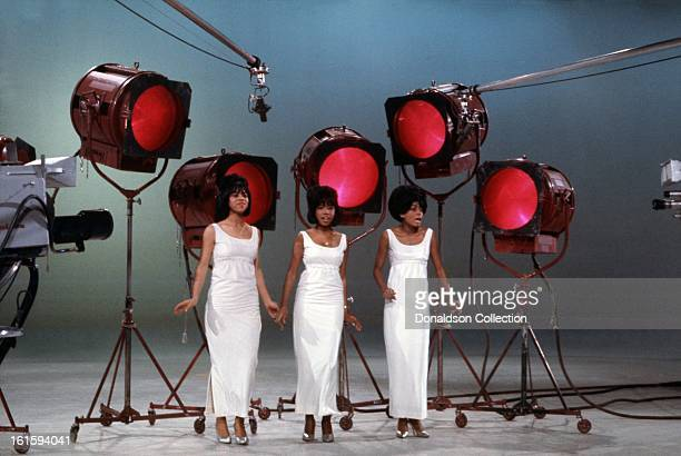 Motown group The Supremes perform on the NBC TV music show 'Hullabaloo' on January 26 1965 in New York City New York