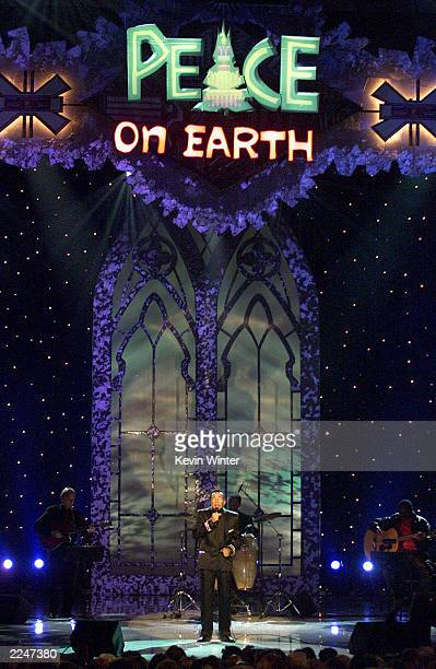 Motown legend Smokey Robinson performs live at the taping of 'The 3rd Annual Soul Train Christmas Starfest' in Los Angeles Ca 11/20/00