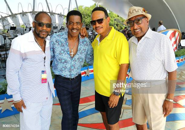 Motown legends The Four Tops at A Capitol Fourth Rehearsals at US Capitol West Lawn on July 3 2017 in Washington DC