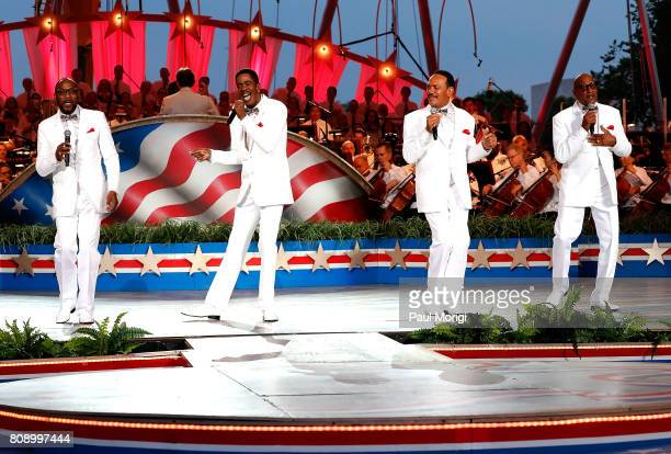 Motown legends The Four Tops perform at A Capitol Fourth at US Capitol West Lawn on July 4 2017 in Washington DC