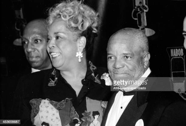 Motown records founder Barry Gordy with Della Reese March 21 1998