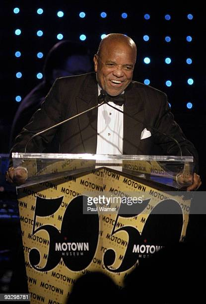 Motown Records founder Berry Gordy attends the Motown 50 Golden Gala at the Detroit Marriott Renaissance Center on November 21 2009 in Detroit...
