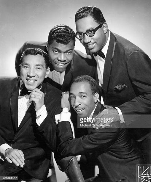 Motown Records group Smokey Robinson and The Miracles pose for a portrait circa 1965 in New York City New york