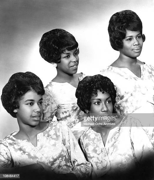 Motown singing group The Marvelettes pose for a portrait circa 1962 in New York City, New York.