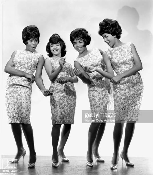 Motown singing group The Marvelettes pose for a portrait circa 1964 in New York City, New York.