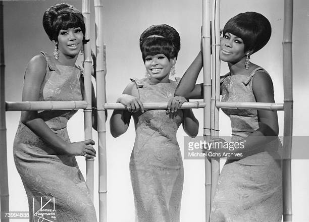 Motown singing group The Marvelettes pose for a portrait circa 1965 in New York City, New York.