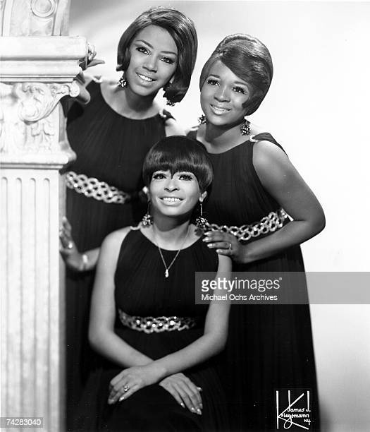 Motown singing group The Marvelettes pose for a portrait circa 1968 in New York City, New York.