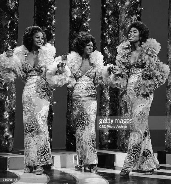 Motown trio The Supremes performing 'Your Wonderful Sweet, Sweet Love' on 'The Sonny And Cher Comedy Hour', 22nd September 1972. From left to right,...