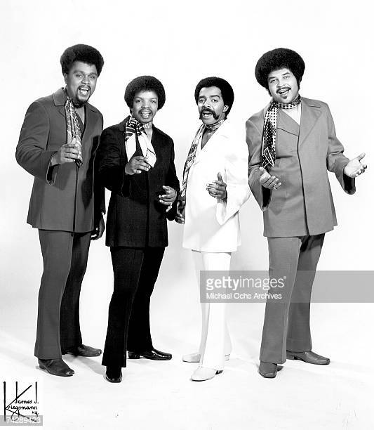 Motown vocal group The Originals pose for a portrait circa 1969 in New york City New York