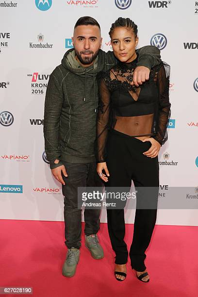 MoTrip and Lary attend the 1Live Krone at Jahrhunderthalle on December 1 2016 in Bochum Germany
